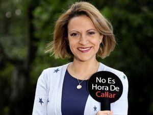 """Ganadora d el Premio Mundial de Libertad de Prensa """"UNESCO-Guillermo Cano 2020"""", la periodista colombiana, Jineth Bedoya Lima."""