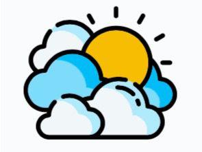 Condiciones generales de buen tiempo. Algunos chubascos con posibles tronadas hacia el noroeste