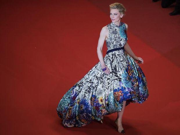 Cate Blanchett llega a la proyección de la película 'Cold War' en el Festival de Cine de Cannes.