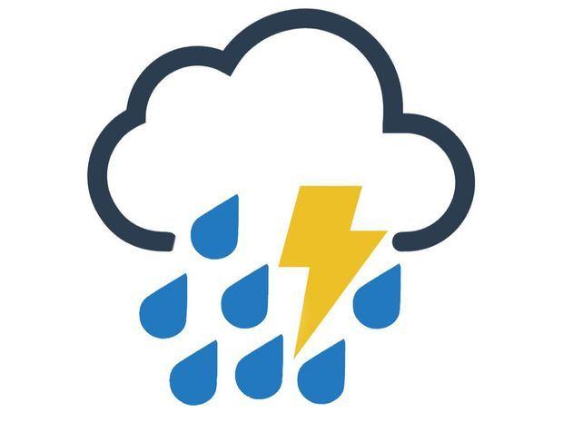 Aguaceros dispersos con tormentas eléctricas y aisladas ráfagas de vientos