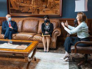 Alcaldesa Carolina Mejía junto a Delegación de la Unión Europea en la República Dominicana.