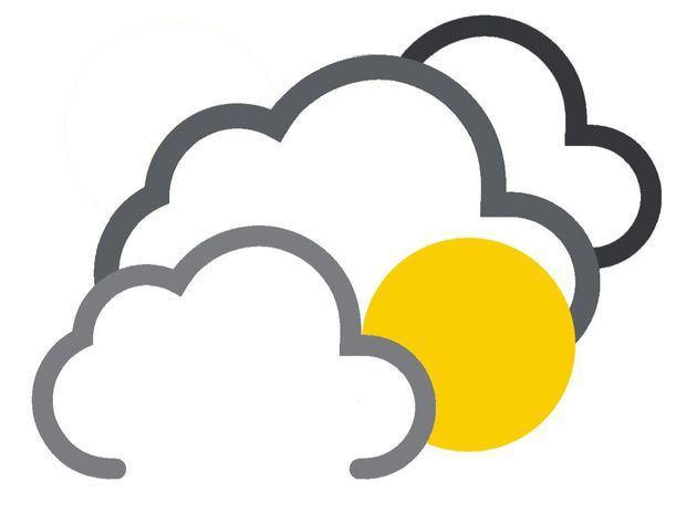 Nubosidad dispersa y escasas lluvias en gran parte del país…sensación calurosa