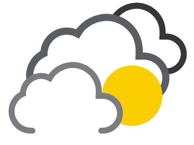 Nublados con aguaceros locales, tronadas y ráfagas de viento ocasionales