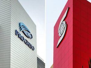 Fachadas Scotiabank y Banco del Progreso.