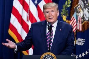 En la imagen, el presidente de Estados Unidos, Donald Trump.
