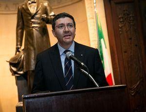Andrea Caneperi, embajador italiano en la República Dominicana.