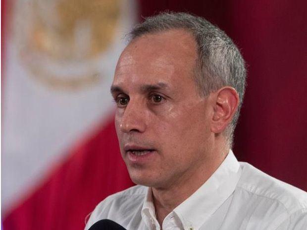 Subsecretario de Prevención y Promoción de la Salud, Hugo López-Gatell, durante su participación en una rueda de prensa en Palacio Nacional, de Ciudad de México, México.
