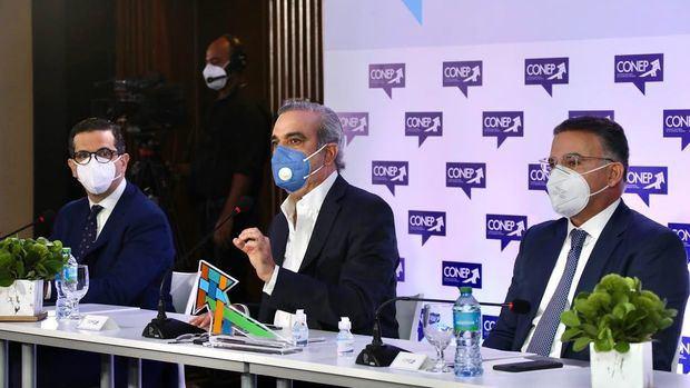 CONEP realizó un encuentro con el candidato presidencial del PRM, Luis Abinader, para conocer su propuesta