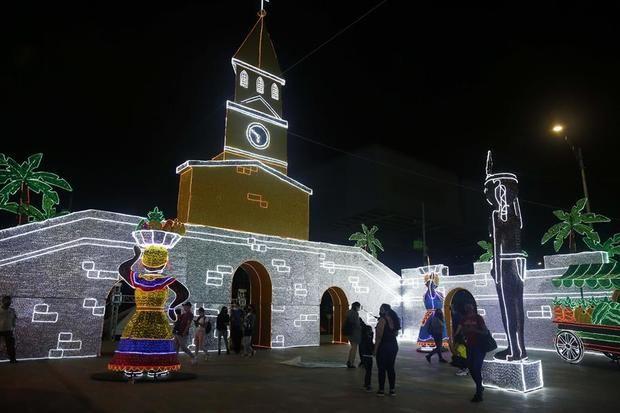El alumbrado navideño de Medellín propone un luminoso viaje por Colombia