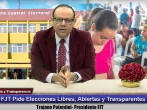 FJT pide elecciones libres, abiertas y transparentes.