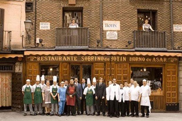 Fachada del histórico edificio del restaurante más antiguo del mundo.