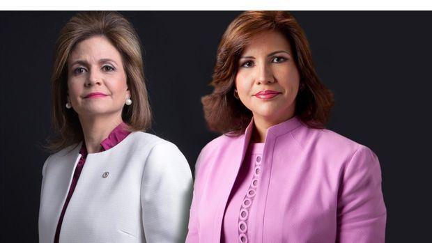 Vicepresidenta electa, Raquel Peña junto a la vicepresidenta de la República, Margarita Cedeño.