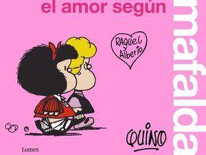 Fotografía cedida por Lumen de la portada del libro 'El amor según Mafalda'.