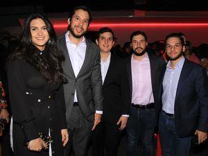 Natalie Duran, Jean Carlos Pérez, Julian Blanco, Juan Ramón Mejía y Manuel Pérez.