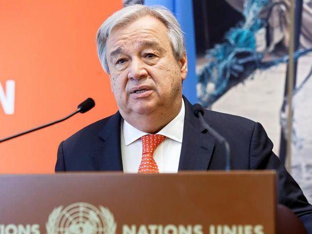En la imagen un registro del secretario general de la ONU, António Guterres, quien explicó que 'hemos visto a gente joven en primera línea de la acción climática, demostrando lo que es un liderazgo contundente'.