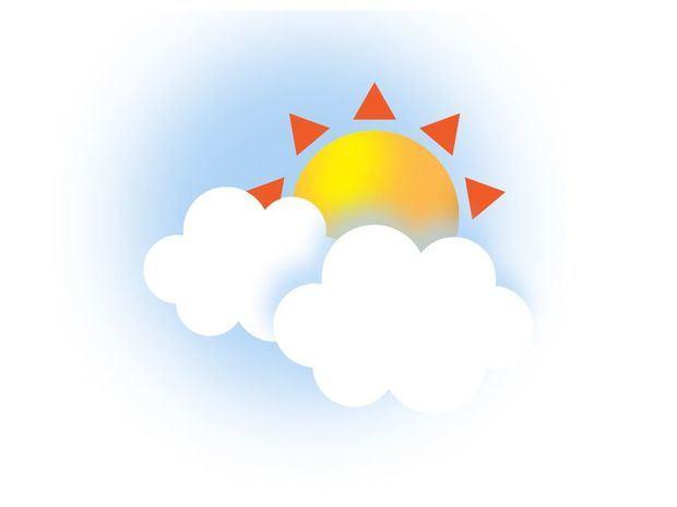 Cielo de nubes dispersas y ambiente caluroso