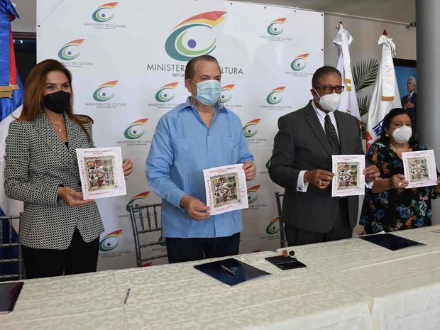 Ministerio de Cultura, alcaldía del Distrito Nacional e INPOSDOM ponen a circular sellos y textos sobre fundación de Santo Domingo