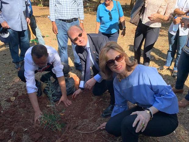 Embajada de Israel realiza siembra de árboles de olivo en el Parque Mirador del Sur