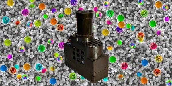 Dispositivo portátil capaz de identificar en el aire partículas causantes de alergias