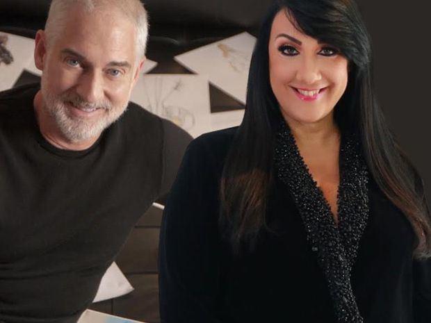 Los reconocidos diseñadores de moda Sully Bonnelly junto a Giannina Azar.