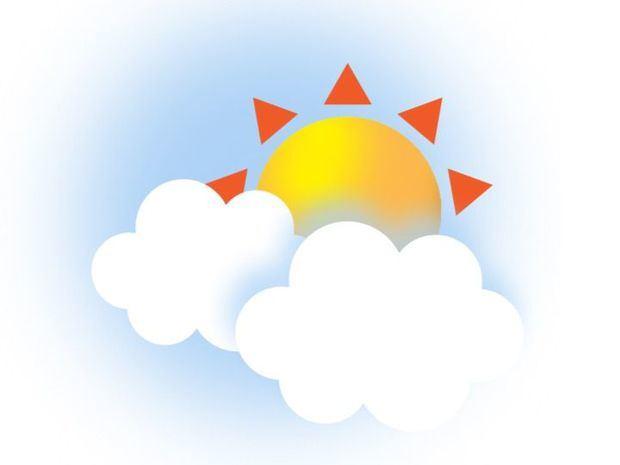 Nubes dispersas y temperaturas calurosas sobre el país