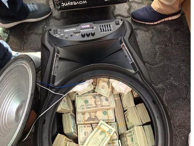 El dinero fue ingresado a la República Dominicana en 3 bocinas enviadas por tres personas con diferentes domicilios.