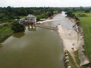 La obra de toma de los sistemas de riego Aglipo está en el río Yuna.