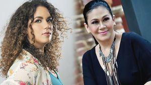 Las artistas Laura Rivera y Maridalia Hernández.