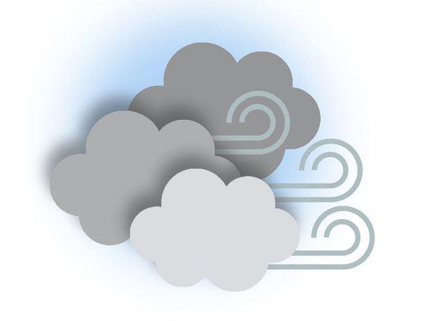 Vientos del Este - Noreste. Nubes dispersas y precipitaciones escasas a nivel nacional