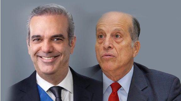 Presidente de la República Dominicana Luis Abinader junto a Max Puig.