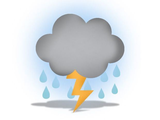 Onda tropical y vaguada genera lluvias con tormentas eléctricas y ráfagas de viento