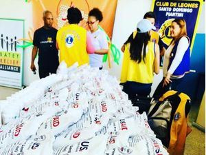 Algunas de las raciones alimenticias donadas por la USAID.