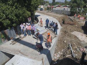 Los trabajos de adecuación del arroyo Tenguerengue, en San Juan de la Maguana, están bastante avanzados.