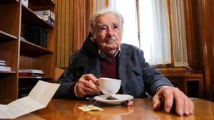 El expresidente uruguayo José Mujica atiende a Efe hoy desde su despacho en Montevideo, Uruguay