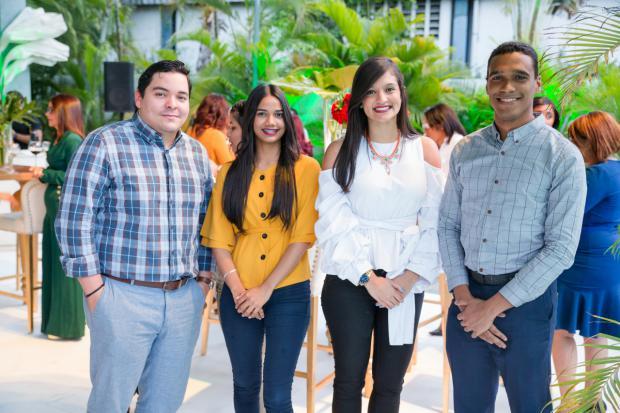Emmanuel Peña, Estefany Abreu, Johanna Henríquez y Fernando Fernández.