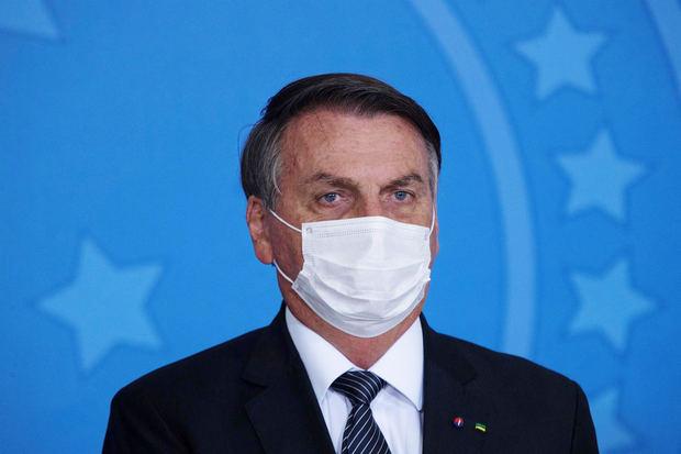 En la imagen un registro del presidente de Brasil, Jair Bolsonaro.