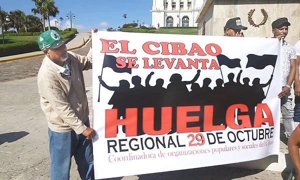Inicia huelga en diferentes sectores del Cibao