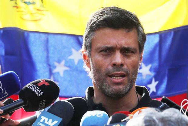 En la imagen un registro del líder opositor venezolano Leopoldo López.