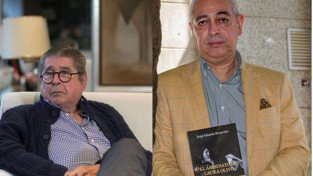 Fotografías de archivo donde aparecen los escritores peruanos Alfredo Bryce Echenique (i) y Jorge Eduardo Benavides (d).