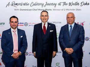 Ammar Samad, Gerente General del Westin Doha y Ehad Amin, Vicepresidente Senior de Qatar Airways.