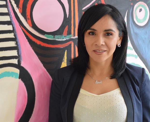 La gerente de Comercio Digital y Organismos Internacionales de la Asociación Latinoamericana de Internet (ALAI), Sissi de la Peña, mientras posa en Ciudad de México (México).
