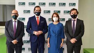 Edesio Ureña Albacete, Arturo de las Heras, Patricia Portela y Antonio Reina Muro.