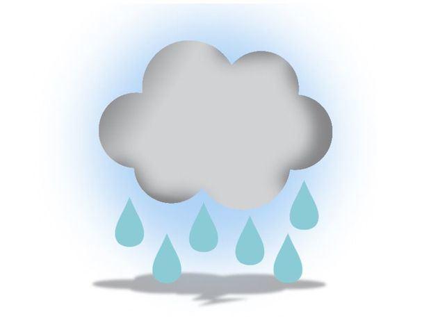 Sistema frontal generando algunas lluvias