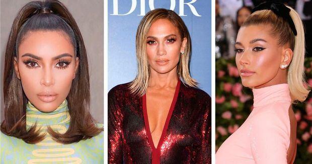 Kim Kardashion, Jennifer López y Hailey Bieber.