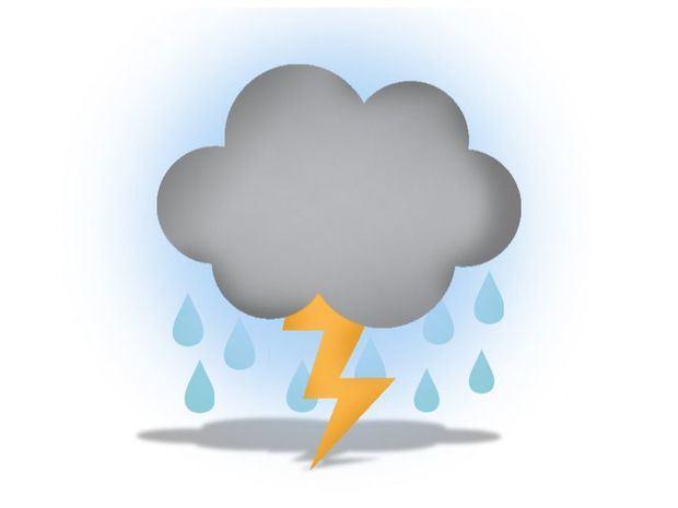 Aguaceros y tormentas eléctricas con ráfagas de viento sobre varias regiones
