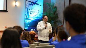 Eduardo Sanz Lovatón durante su intervención en el programa de pasantia de la DGA.