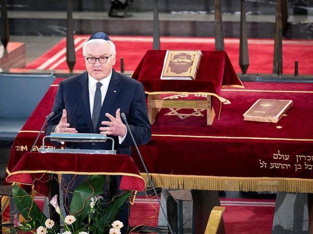 El presidente alemán llama a combatir el antisemitismo en un año conmemorativo