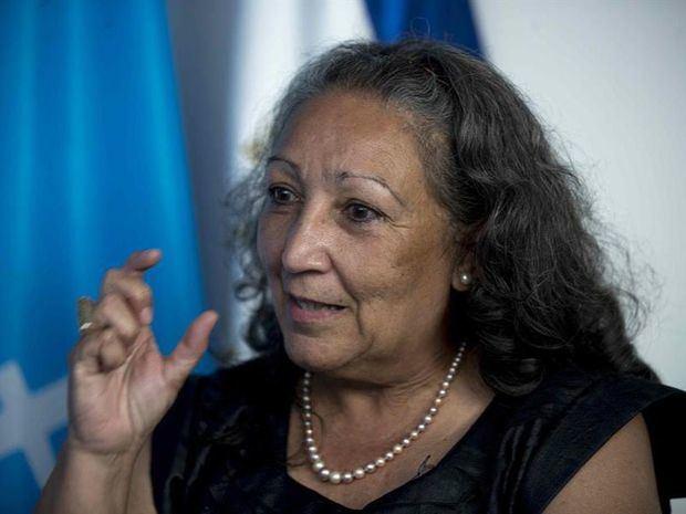 La directora regional para América Latina y el Caribe de Unicef Jean Gough, habla durante una entrevista con Efe hoy en Managua, Nicaragua.