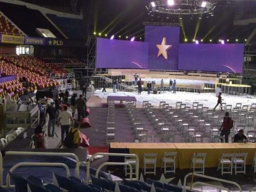 Está listo el escenario para el cierre del congreso del PLD