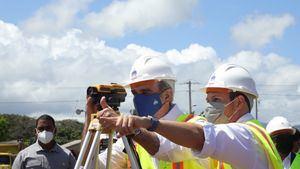 Luis Abinader dejó iniciados este sábado los trabajos de construcción del Hospital Municipal de San José de las Matas.